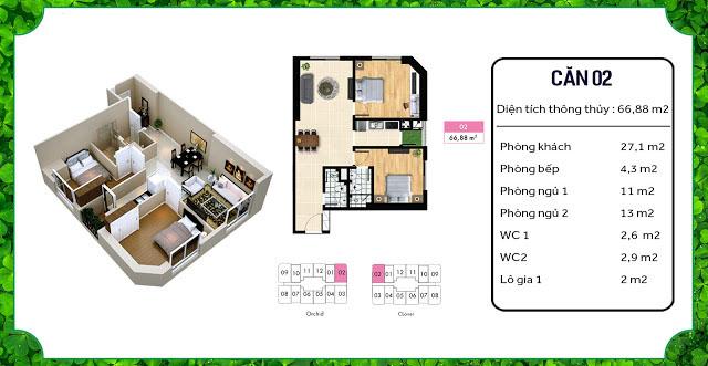 thiết kế căn hộ an bình homeland 02