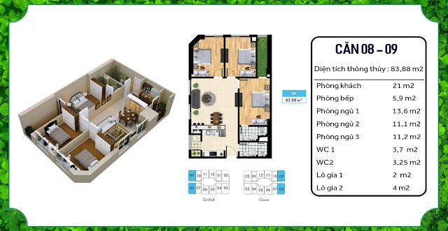 thiết kế căn hộ an bình home land 08 09